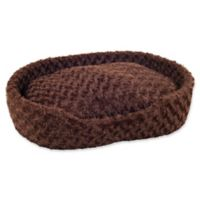 PETMAKER Cuddle Small Round Pet Bed in Brown