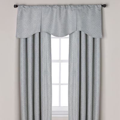 Captiva Pleated Window Curtain Valance In Blue