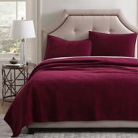 Pure Velvet King Quilt Set in Red