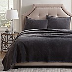 Pure Velvet Full/Queen Coverlet Set in Grey