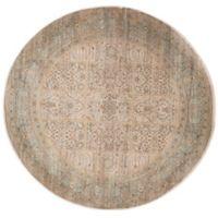 Safavieh Vintage Amanda 6-Foot 7-Inch Round Area Rug in Ivory/Light Blue