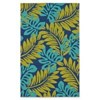 Kaleen Yunque Maui Indoor/Outdoor 5-Foot x 7-Foot 6-Inch Area Rug in Navy