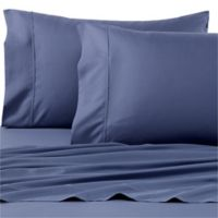 Eucalyptus Origins 300-Thread-Count Tencel Percale Standard Pillowcases in Blue Jean (Set of 2)