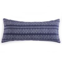Levtex Home Maryln Hmong Pom Pom Oblong Throw Pillow in Blue