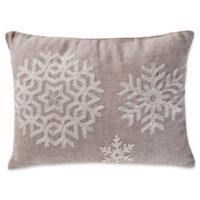 Levtex Home Avery Snowflake Oblong Throw Pillow in Natural