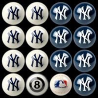MLB New York Yankees Home vs. Away Billiard Ball Set