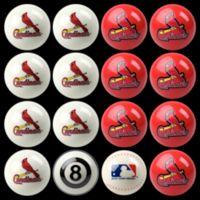 MLB St. Louis Cardinals Home vs. Away Billiard Ball Set