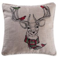 Levtex Home Avery Deer Square Throw Pillow in Natural