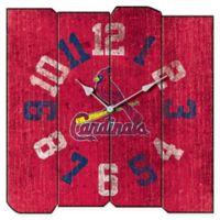 MLB St. Louis Cardinals Vintage Square Wall Clock