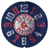MLB Boston Red Sox Vintage Round Wall Clock