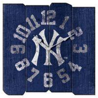 MLB New York Yankees Vintage Square Wall Clock