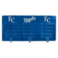 MLB Kansas City Royals 3-Hook Metal Locker Coat Rack