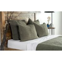 Kosas Home Heirloom Linen King Quilt in Olive