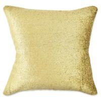 Vesper Lane Chenille Square Throw Pillow in Gold