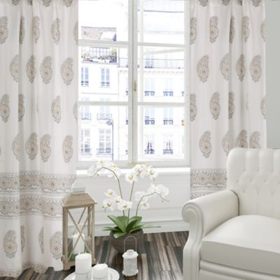 of products cotton distressed blue c dusty set curtains sheer curtain medallion
