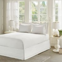 Madison Park Essentials Ruffled Queen Bed Skirt and Pillow Shams Set in White