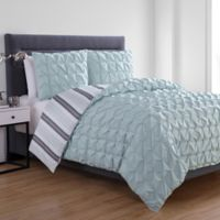 VCNY Home Brielle Reversible Full/Queen Duvet Cover Set in Aqua