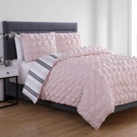 VCNY Home Brielle Reversible King Duvet Cover Set in Blush