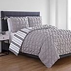 VCNY Home Brielle Reversible King Duvet Cover Set in Grey