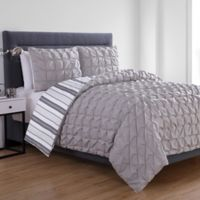 VCNY Home Brielle Reversible Twin XL Duvet Cover Set in Grey