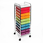 Seville Classics 10-Drawer Pearlized Organizer in Multi