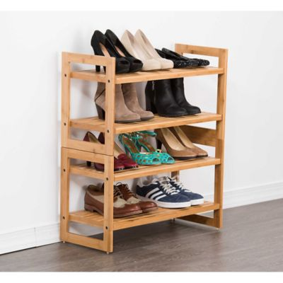 Trinity EcoStorage™ Bamboo Shoe Racks (Set Of 2)