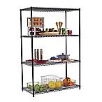 Trinity Heavy-Duty 4-Shelf Wire Rack in Black
