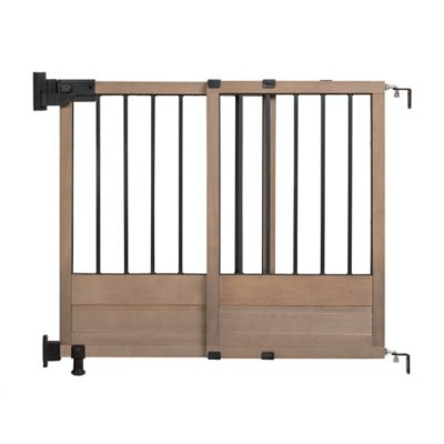 Stair Gates U003e HomeSafe By Summer Infant Rustic Home Top Of Stairs Gate In  Dark Wood