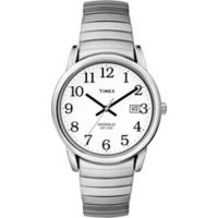 Timex® Easy Reader® Men's 35mm Watch in Silver Brass with Expansion Band