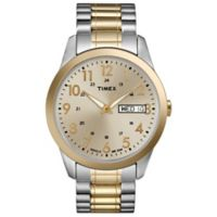 Timex® Men's 36mm South Street Sport Watch in Two-Tone Stainless Steel w/Expansion Band
