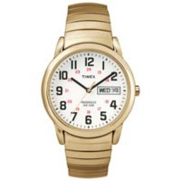 Timex® Easy Reader® Men's 35mm Watch in Brass w/Extra-Long Stainless Steel Expansion Band