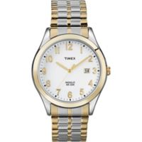 Timex® Main Street Men's Woodcrest Drive Watch in Two-Tone Brass w/Expansion Band