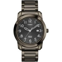 Timex® Men's 39mm Highland Street Classic Watch in Grey Stainless Steel with Expansion Band