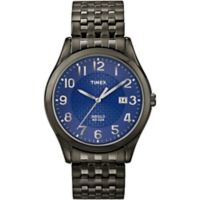 Timex® Main Street Men's 40mm Woodcrest Drive Watch in Black Brass with Expansion Band