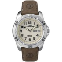 Timex® Expedition® Traditional Men's 40mm Watch with Brown Leather Strap