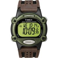 Timex® Expedition® Men's 39mm Digital CAT Watch with Brown Strap