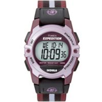 Timex® Unisex 33mm Expedition Mid-Size CAT Digital Watch with Purple Nylon Strap