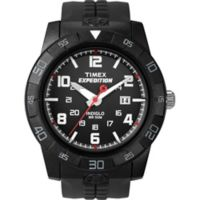 Timex® Expedition® Men's 43mm Rugged Core Analog Watch in Black w/Silicone Strap