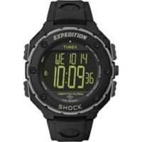 Timex® Expedition® Shock XL Vibration Alarm Men's 50mm Watch with Black Resin Strap