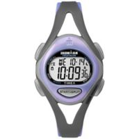 Timex® Ironman® Sleek 50 Ladies' 33mm Watch with Grey Resin Strap