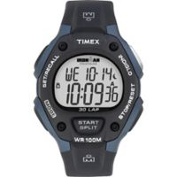Timex® Ironman® Men's 38mm Classic 30 Full-Size Watch in Blue Resin w/Black Silicone Strap
