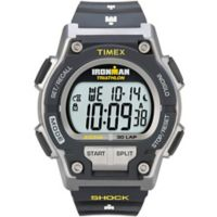Timex® Ironman® Men's 42mm Original 30 Shock Watch in Grey Resin w/Black Silicone Strap