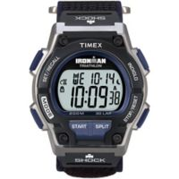 Timex® Ironman® Men's 42mm Original 30 Shock Watch in Blue Resin w/Black Fast-Wrap Strap