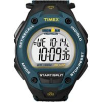 Timex® Ironman® Men's 43.3mm Classic 30 Oversize Watch in Blue Resin w/Black Silicone Strap