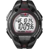 Timex® Ironman® Men's 43.3mm Classic 30 Oversize Watch in Grey Resin w/Black Silicone Strap