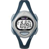 Timex® IRONMAN® Sleek 50 Ladies' 33mm Watch with Dark Blue Resin Strap