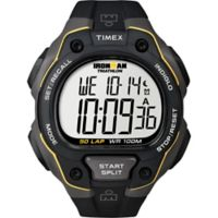 Timex® Ironman® Men's 43mm Classic 50 Full-Size Watch in Yellow Resin w/Black Silicone Strap