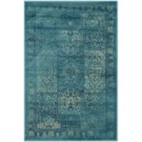 Safavieh Vintage Tile 2-Foot 7-Inch x 4-Foot Accent Rug in Turquoise/Multi