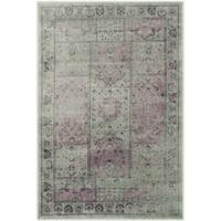Safavieh Vintage Tile 3-Foot 3-Inch x 5-Foot 7-Inch Area Rug in Amethyst
