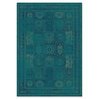 Safavieh Vintage Tile 4-Foot x 5-Foot 7-Inch Area Rug in Turquoise/Multi